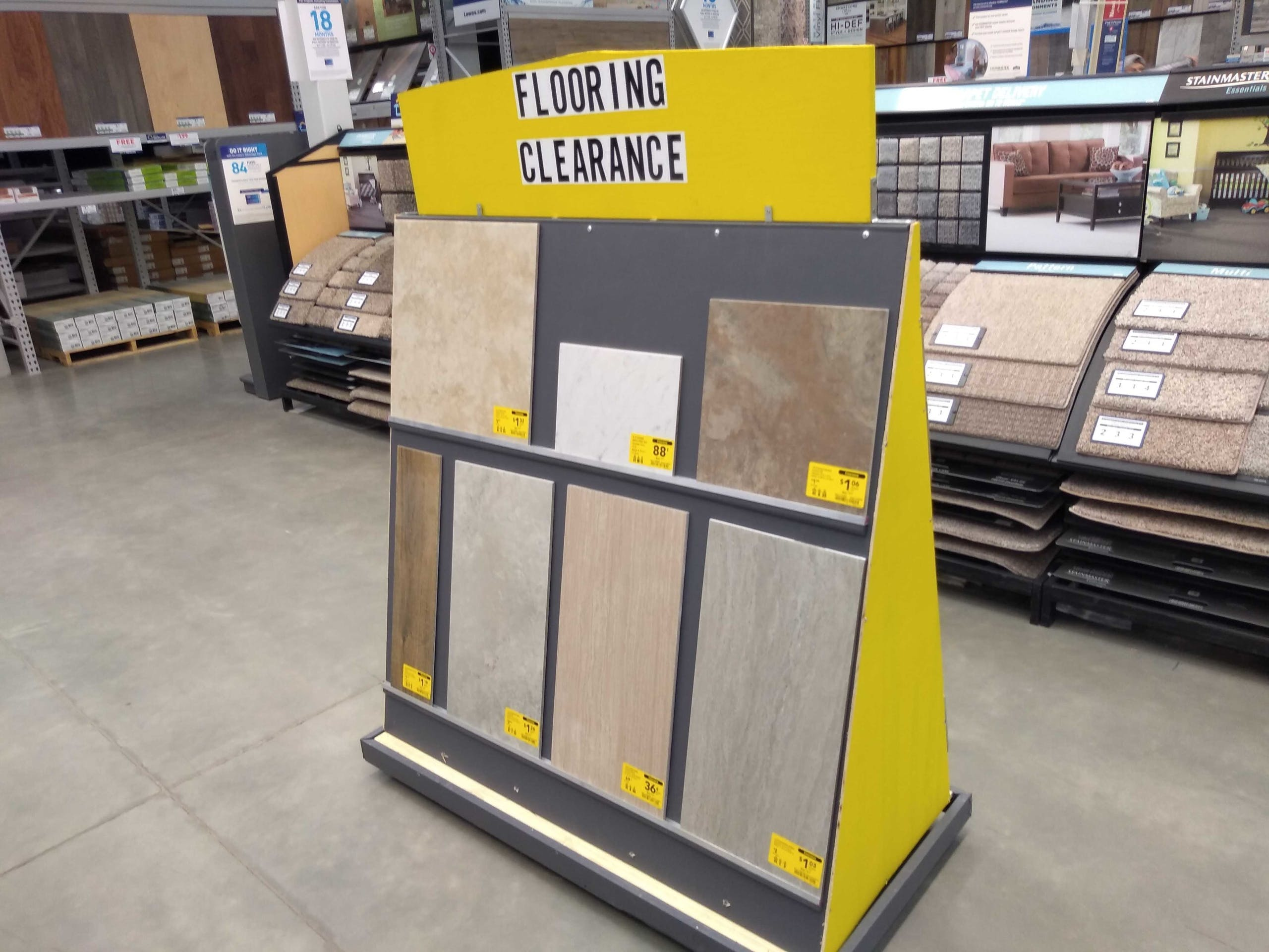 Clearance Tiles As Low 0 33 Sq Ft