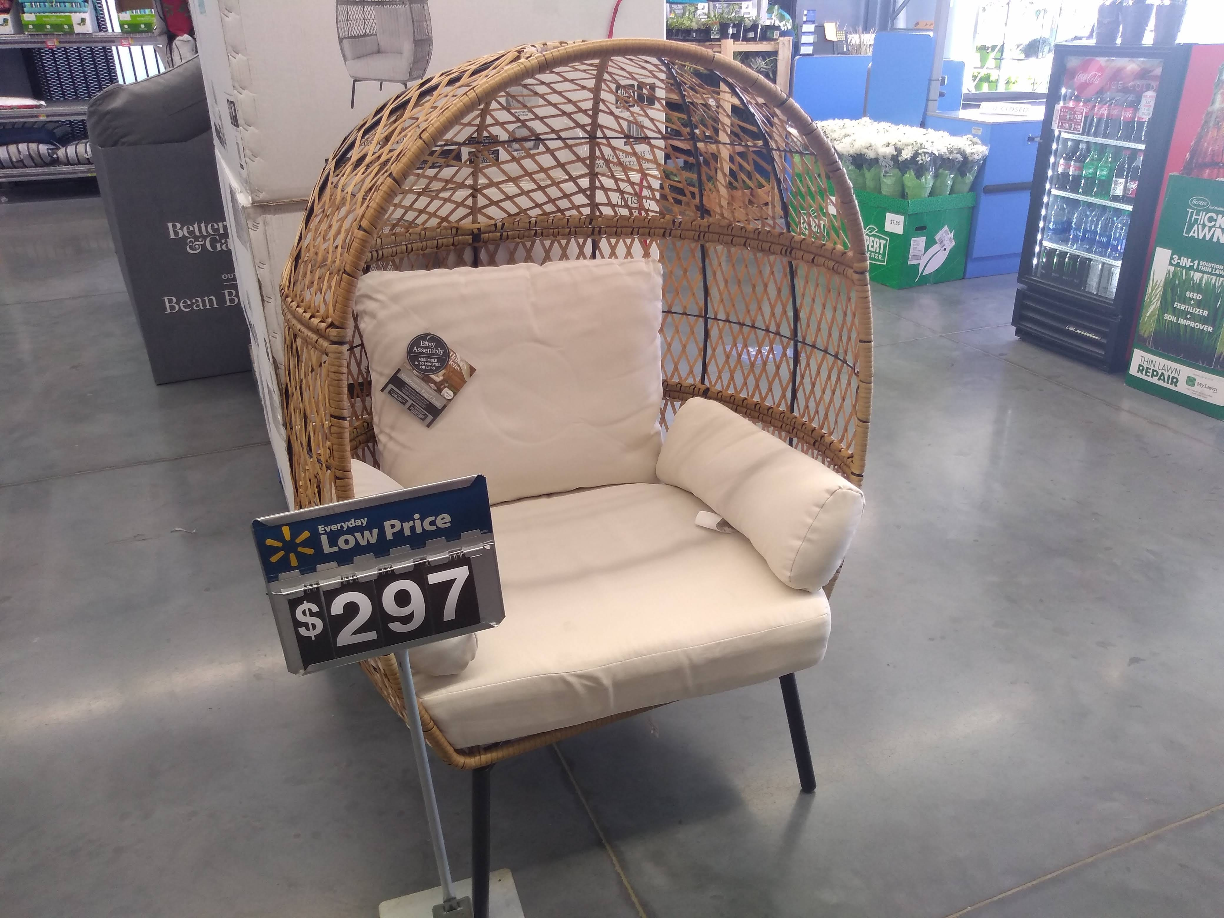 Better Homes Gardens Egg Chair At Walmart The Krazy Coupon Lady
