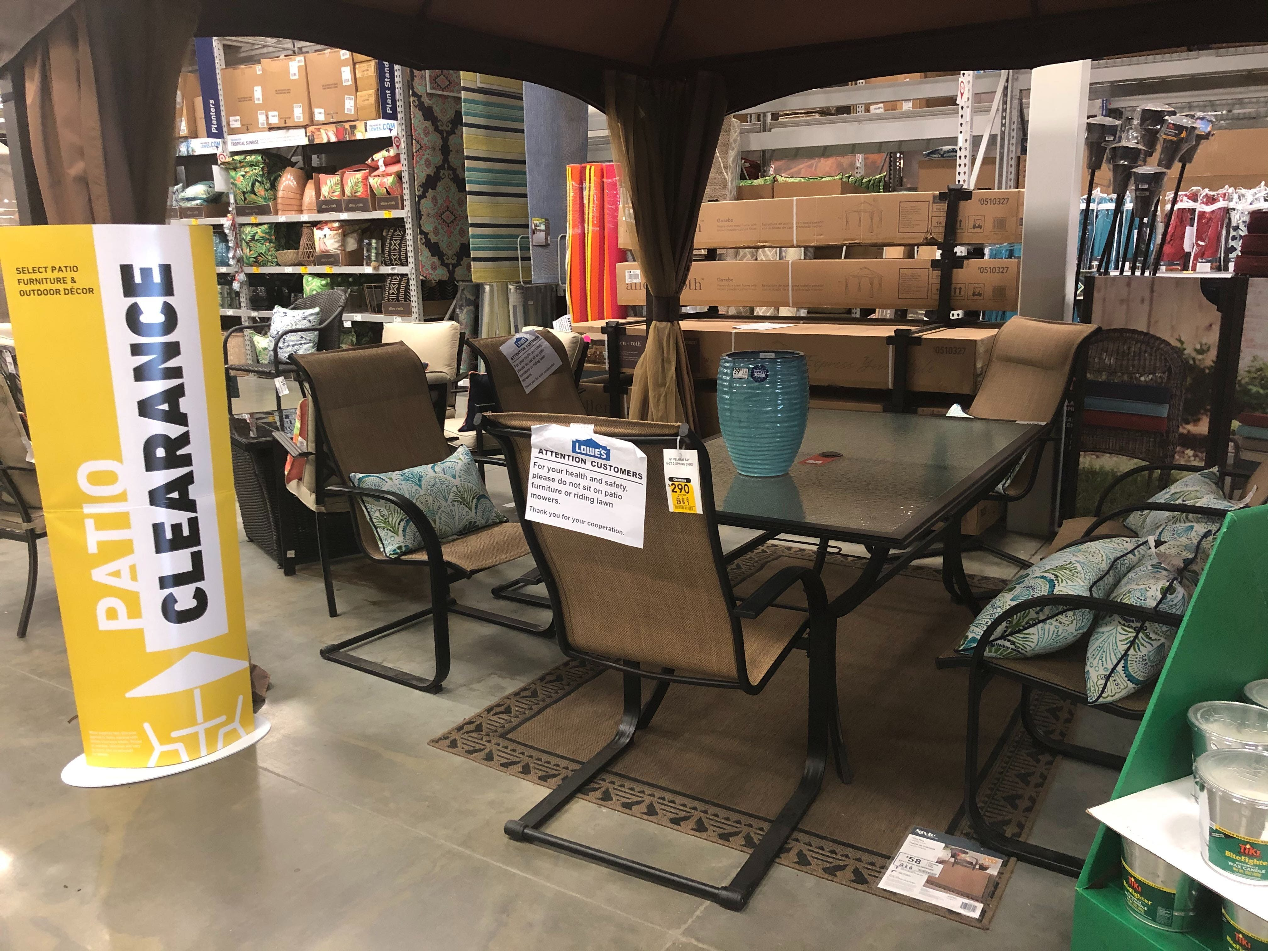 Picture of: Patio Furniture Clearance Has Started At Lowe S The Krazy Coupon Lady