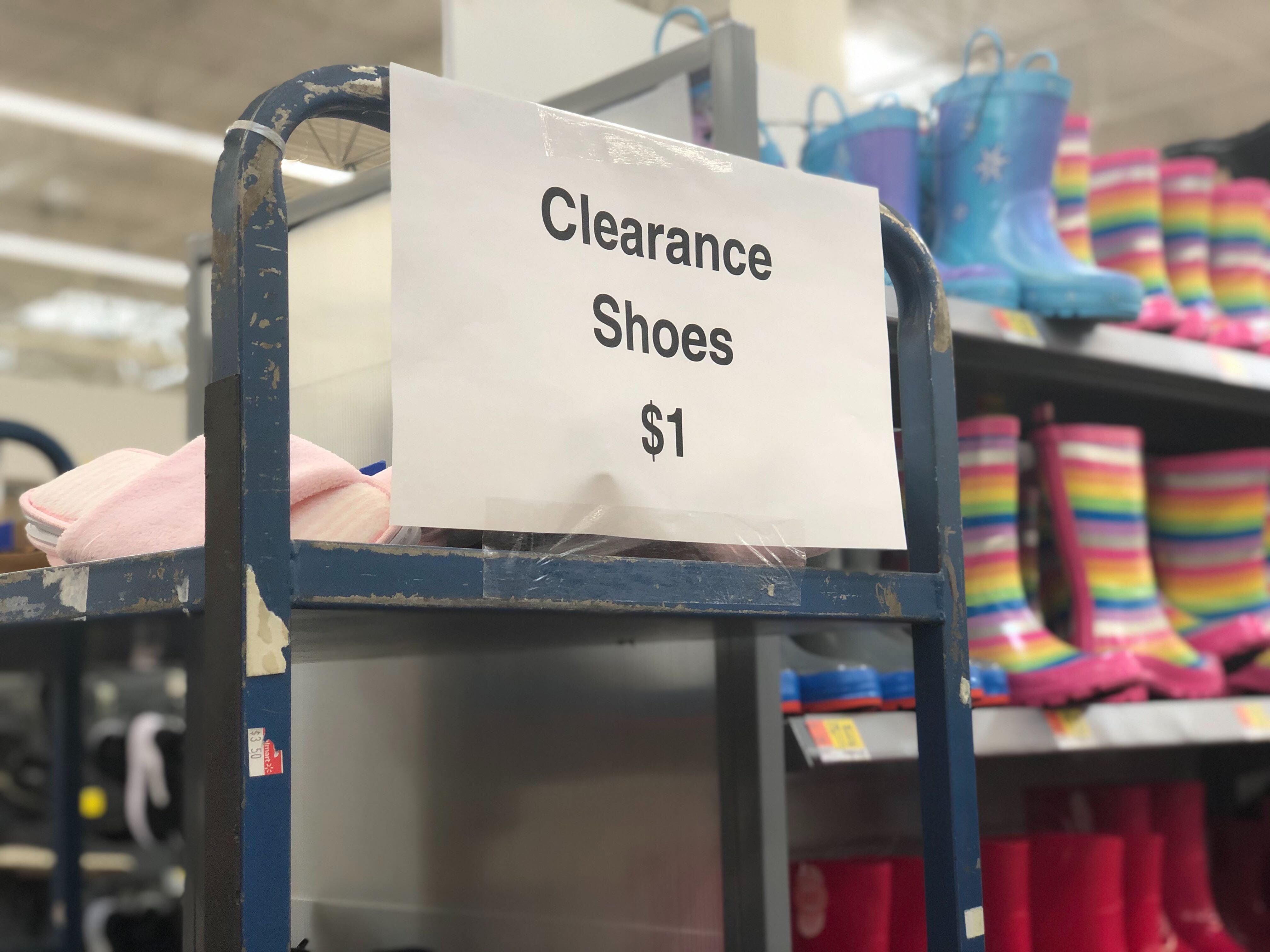 Shoe Clearance, as Low as $1 at Walmart