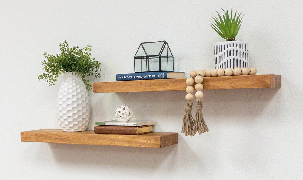 farmhouse floating shelves starting at 31 55 at home depot