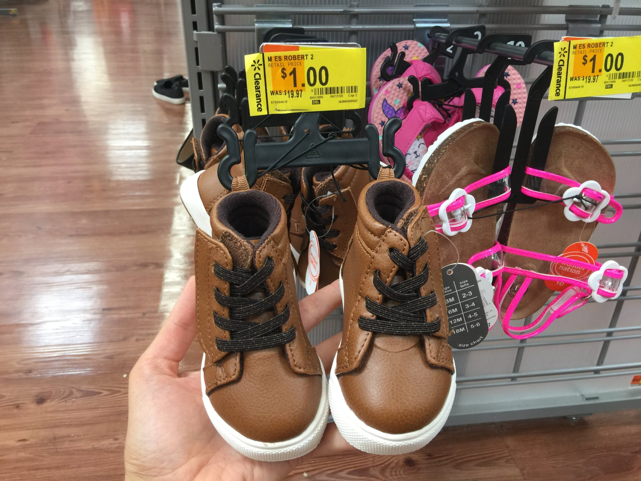 $1 Kids' Shoes at Walmart Stores