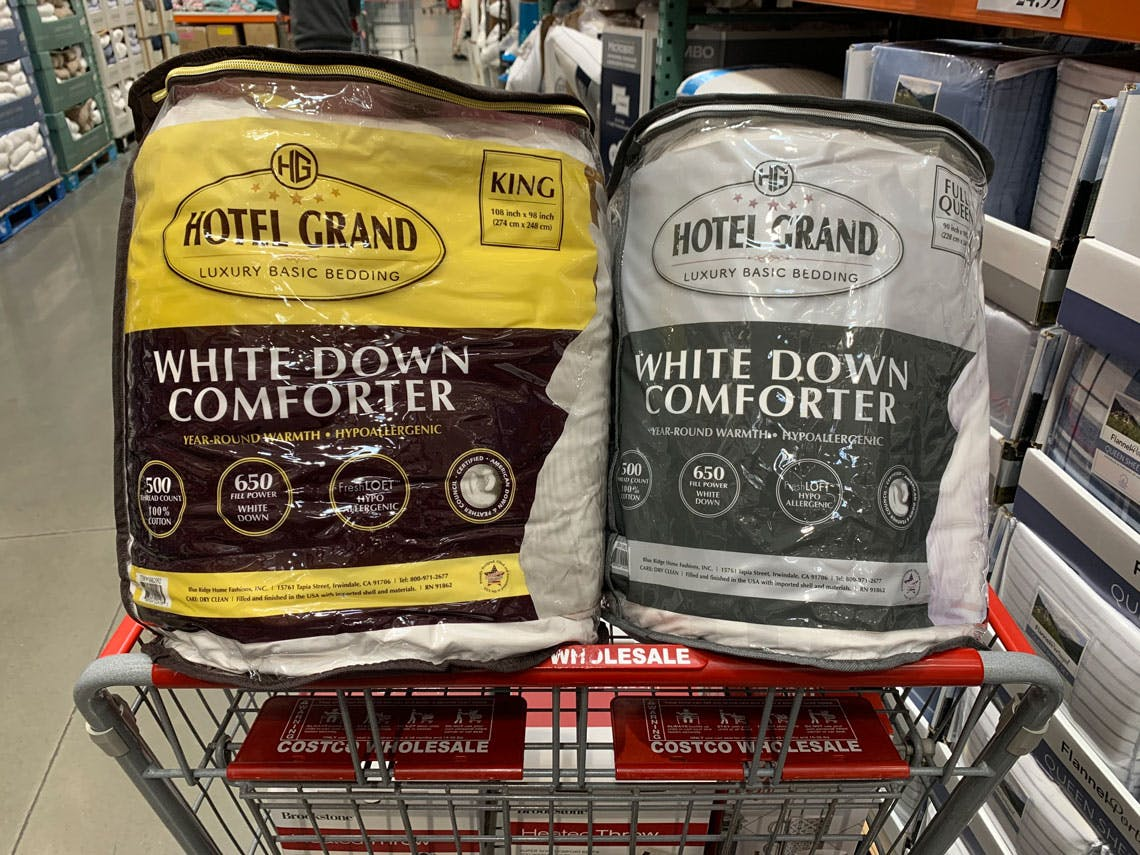 Hotel Grand White Down Comforters As Low As 79 99 At Costco The Krazy Coupon Lady