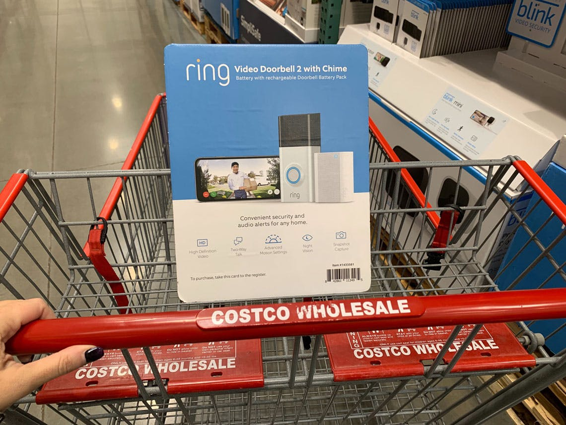 Ring Doorbell Christmas Chimes 2020 Ring Video Doorbell 2 with Chime, $119.99 at Costco   Black Friday