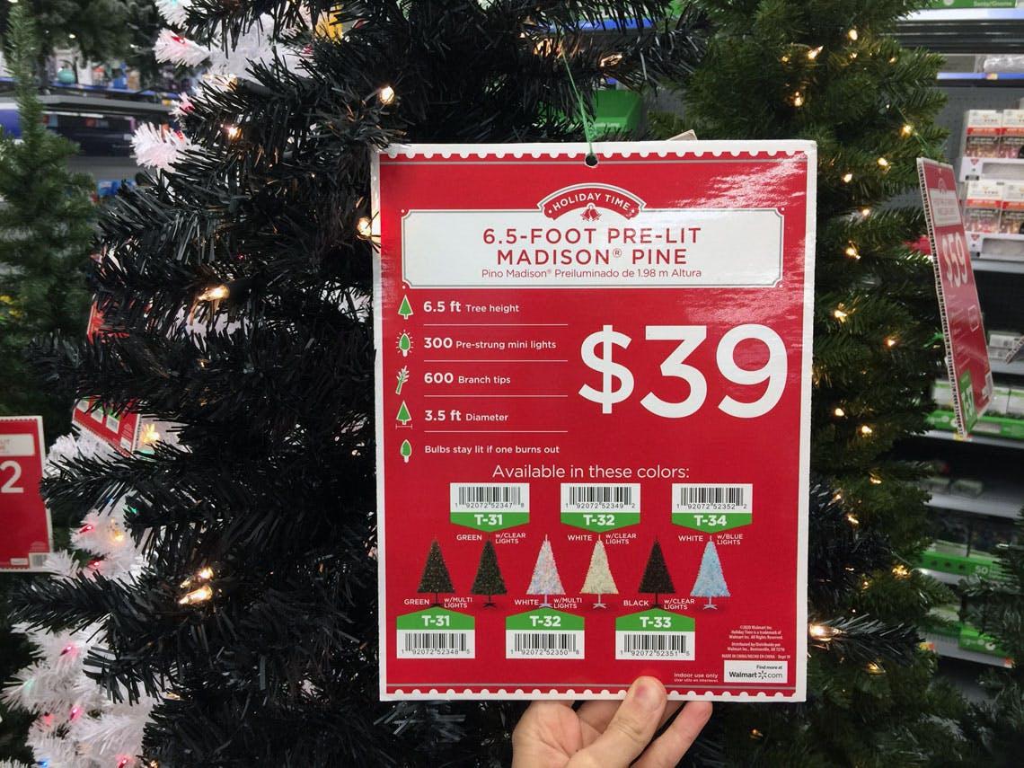 6 5 Pre Lit Black Christmas Tree 39 At Walmart The Krazy Coupon Lady