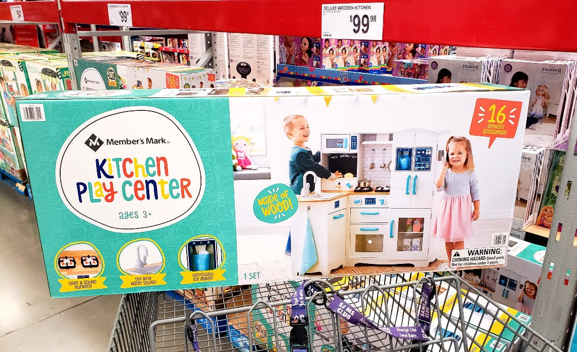 Kids Wooden Kitchen Or Supermarket Play Centers Only 99 98 At Sam S Club The Krazy Coupon Lady