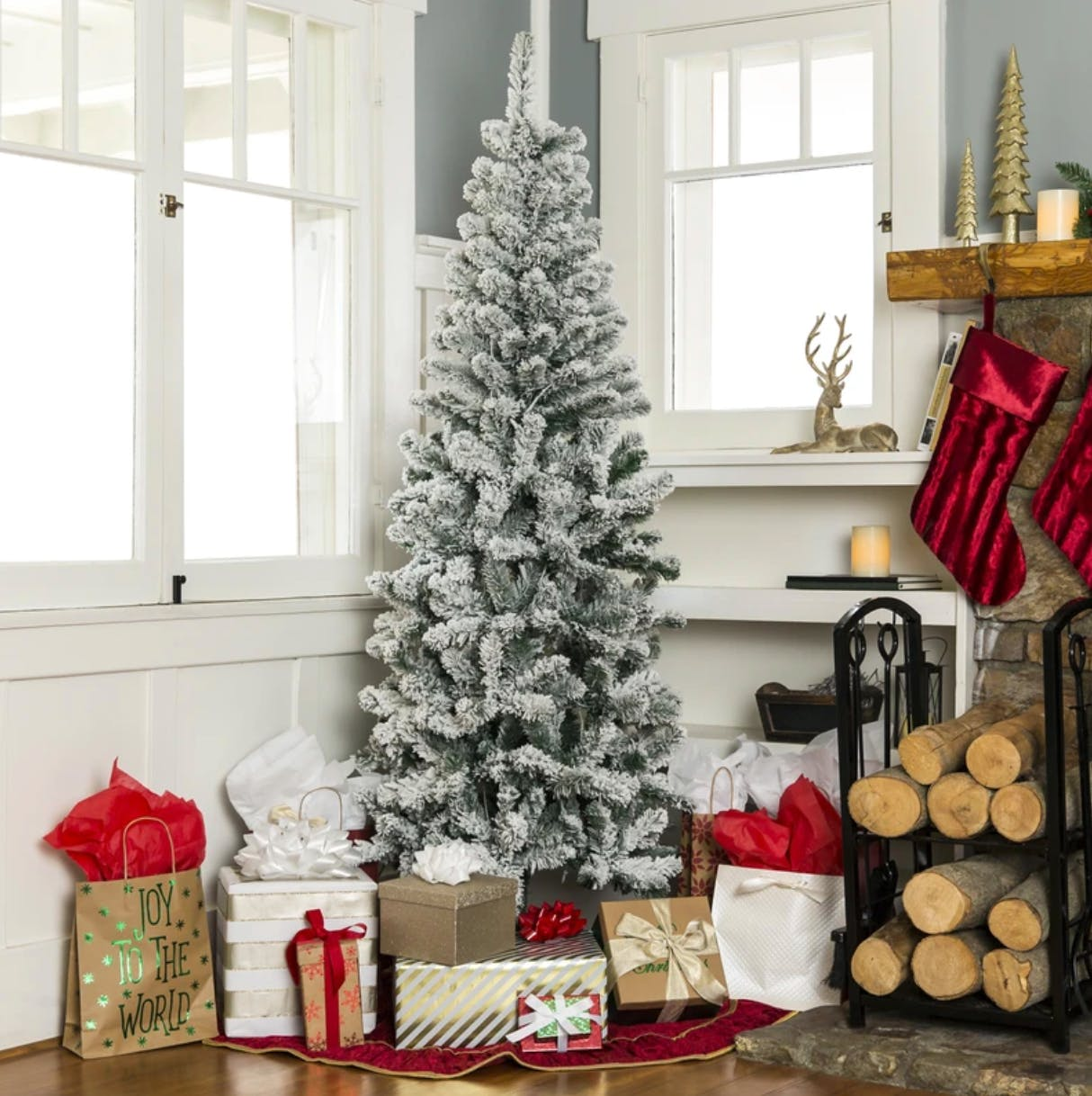 Snow Flocked Pencil Christmas Tree As Low As 40 The Krazy Coupon Lady