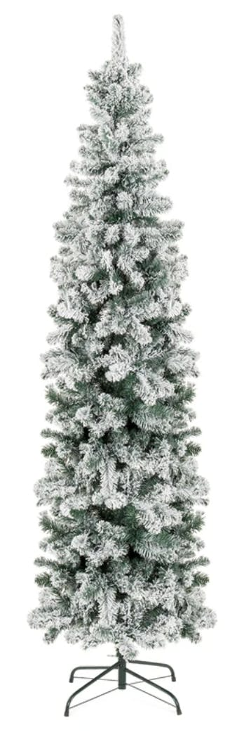 Black Friday Christmas Tree Deals 2020 Flcoked Snow Flocked Pencil Christmas Tree, as Low as $40   The Krazy