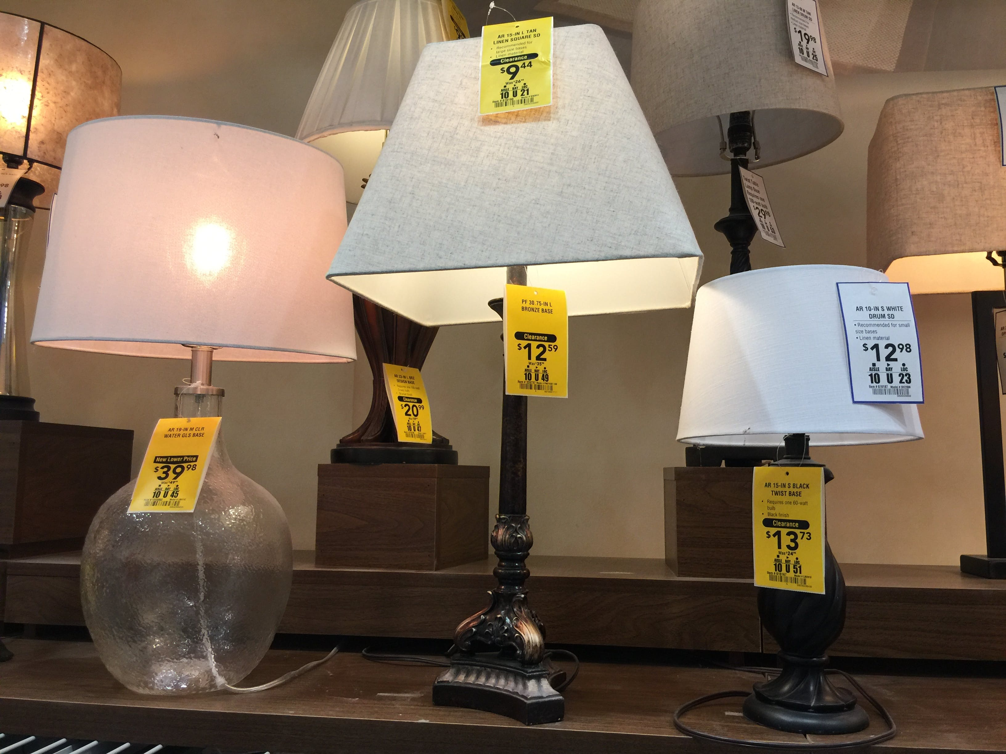 Clearance Table Lamps Up To 80 Off At Lowe S The Krazy Coupon Lady